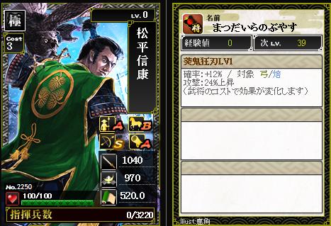 2250【極】松平信康 葵鬼狂刃