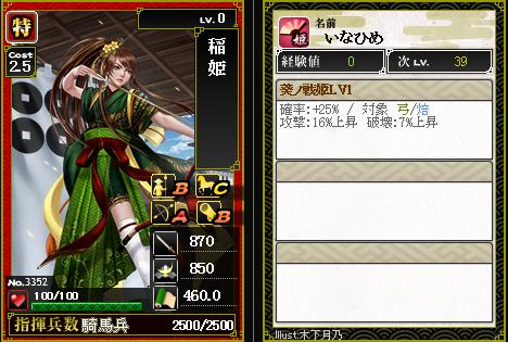 3352 稲姫 葵ノ戦姫