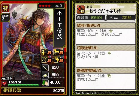3384 小山田信茂 惜別ノ叛逆