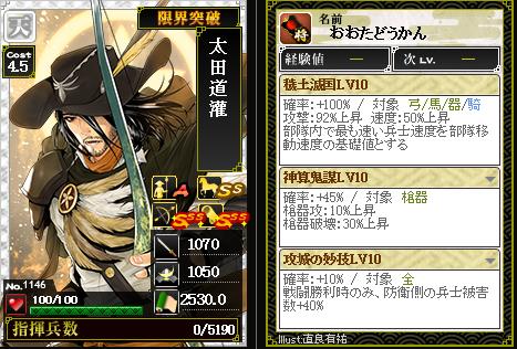 武ノ美シミュレータ 1146太田道灌 最強の武ノ美部隊