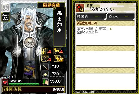 1017黒田如水 防:神謀鬼略