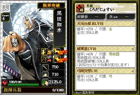 1033黒田如水 攻:天元の用兵