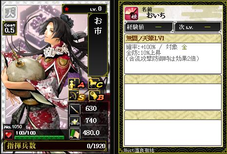 1050お市 防:無間ノ天姫