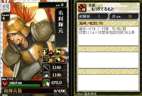 1124毛利輝元 攻:海神ノ竜宴