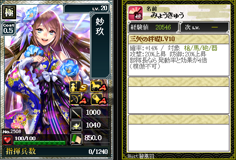 2508妙玖 特:三矢の絆礎