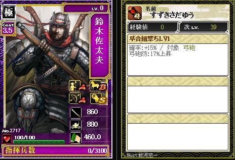 2717鈴木佐太夫 防:早合組撃ち