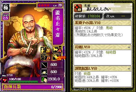 2728蘆名止々斎 防:黒獅子の謀