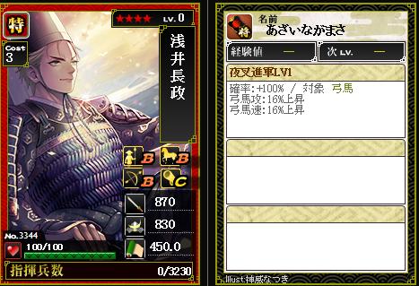 3344浅井長政 攻:夜叉進軍