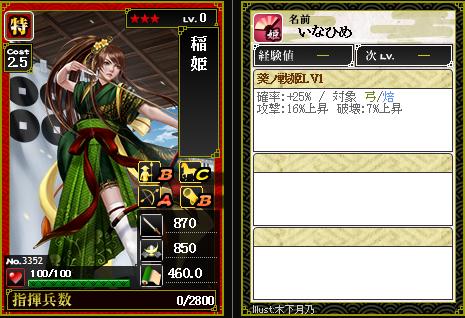 3352稲姫 葵ノ戦姫 [D]