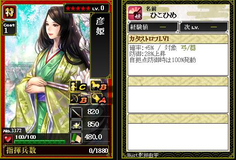 3372彦姫 カタストロフ [D]