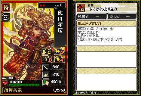 3381徳川頼房 御三家ノ才 [D]