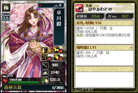2519【極】早川殿 赤鳥ノ妖舞
