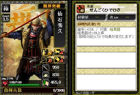2196仙石秀久 攻:鈴鳴り武者