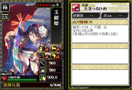 2225玉鶴姫 防:山刀懐剣